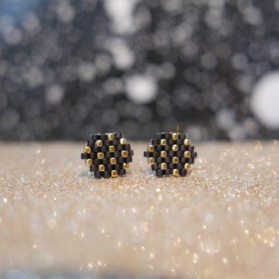 puces d'oreilles FEST (duo=) ::noir&doré::