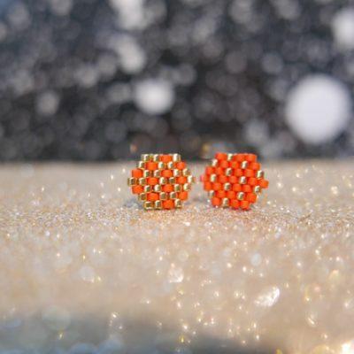 puces d'oreilles FEST (duo#) ::rouge&doré::