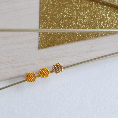 puces d'oreilles FEST (trio) ::jaune&doré::