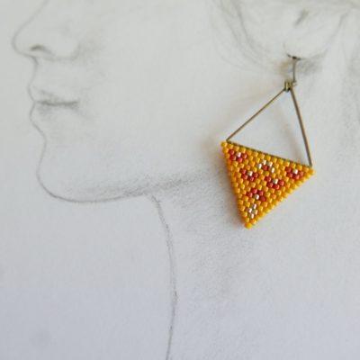boucles d'oreilles ZELDA ::jaune/pastèque::